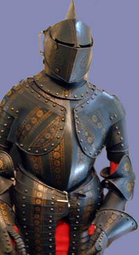 Complete 19th. century armour made in the French style of c. 1580